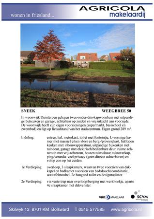 Brochure preview - sneek, weegbree 50, brochure