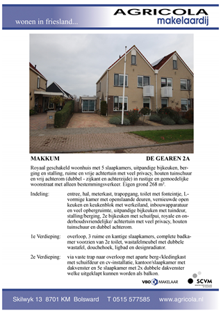 Brochure preview - makkum, de gearen 2a, brochure