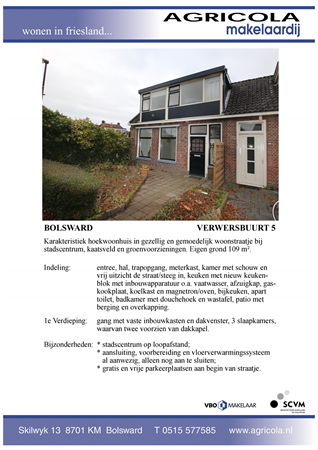 Brochure preview - bolsward, verwersbuurt 5, brochure