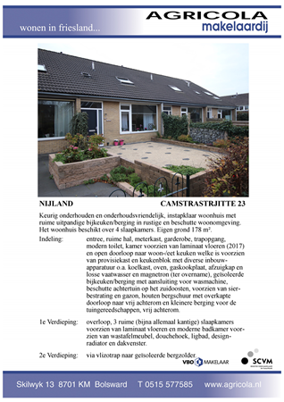 Brochure preview - nijland, camstrastrjitte 23, brochure