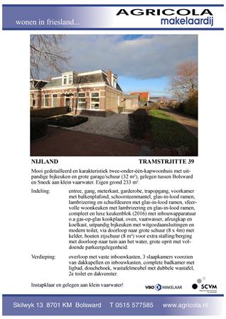 Brochure preview - nijland, tamstrjitte 39, brochure