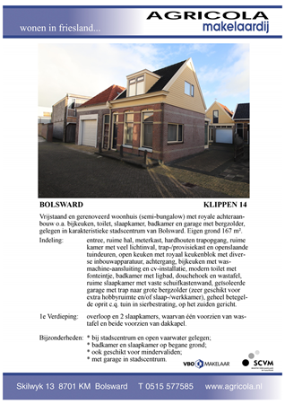 Brochure preview - bolsward, klippen 14, brochure