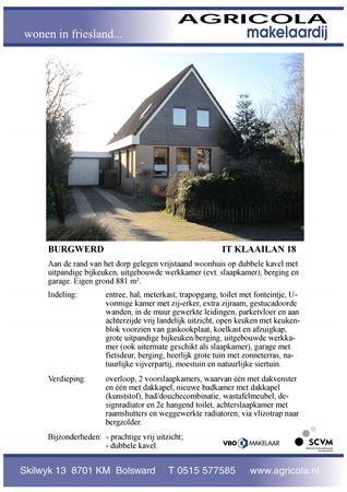Brochure preview - burgwerd, it klaailan 18, brochure