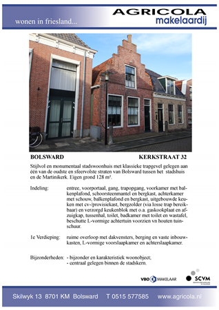 Brochure preview - bolsward, kerkstraat 32, brochure