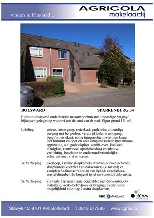 Brochure preview - bolsward, sparrenburg 34, brochure