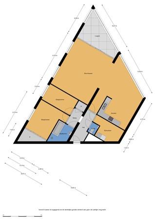 Floorplan - Fellinilaan 62, 1325 VN Almere