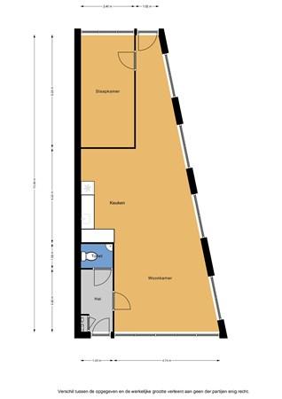 Floorplan - Fugaplantsoen 4, 1312 SH Almere