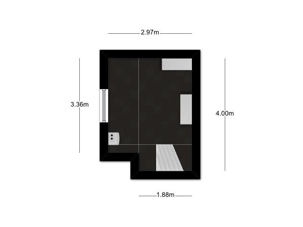 Floorplan - Wilhelminastraat 22, 6131 KP Sittard