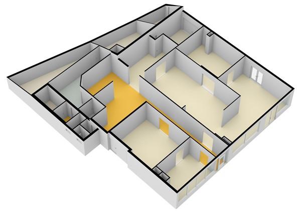 Floorplan - Liniestraat 5A, 4051 BN Ochten