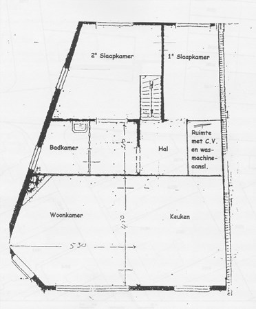 Floorplan - Kerkstraat 54, 7442 EE Nijverdal