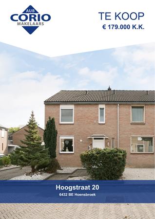 Brochure preview - Hoogstraat 20, 6432 BE HOENSBROEK (1)
