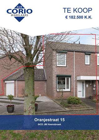 Brochure preview - Oranjestraat 15, 6433 JM HOENSBROEK (1)