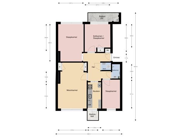 Floorplan - Ambachtsgaarde 70, 2542 EH The Hague