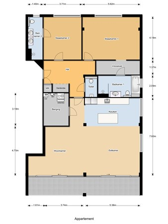 Floorplan - Stationsweg 7A, 1431 EG Aalsmeer