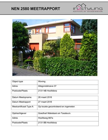 Floorplan - Allegondahoeve 37, 2131 NB Hoofddorp