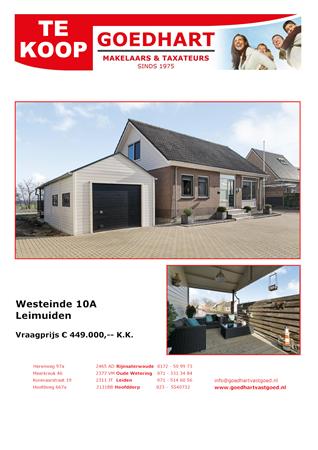 Brochure preview - brochure voor westeinde 10a leimuiden nieuwe
