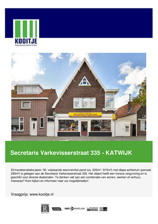 Brochure preview - de brochure secr. varkevisserstraat 335