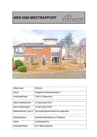 Brochure preview - nen 2580 meetrapport vliegende hollanderstraat 21 rijsenhout
