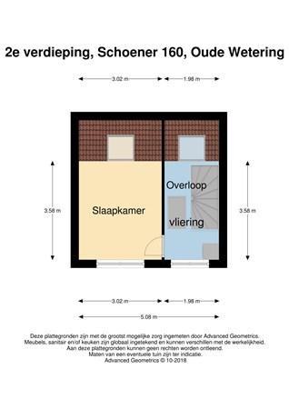Floorplan - Schoener 160, 2377 DK Oude Wetering