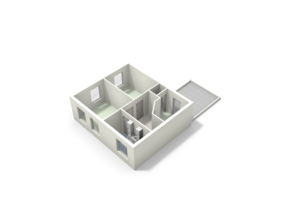 Floorplan - Zuideindsestraat 42, 4921 XN Made