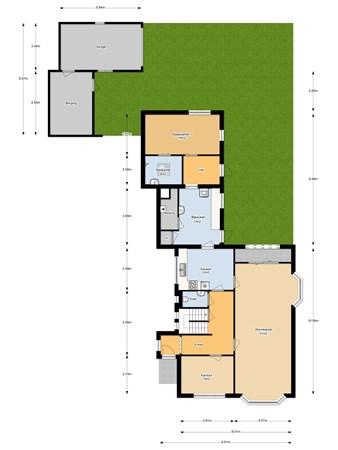 Floorplan - Tiendweg 116, 4142 EN Leerdam