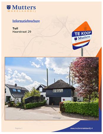 Brochure preview - brochure haarstraat 29 tuil