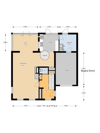 Floorplan - Voorstraat 120, 4153 AN Beesd