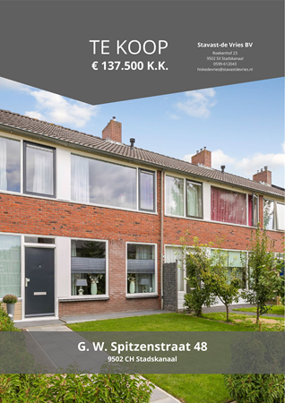 Brochure preview - G. W. Spitzenstraat 48, 9502 CH STADSKANAAL (1)