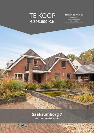 Brochure preview - Saaksumborg 7, 9502 WT STADSKANAAL (1)