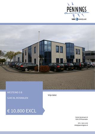 Brochure preview - Westeind 5-B, 5245 NL ROSMALEN (1)
