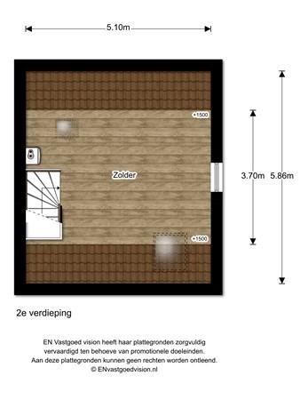 Floorplan - De Meent 50, 3927 GM Renswoude