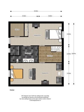 Floorplan - Spoorlaan 3, 3959 BG Overberg