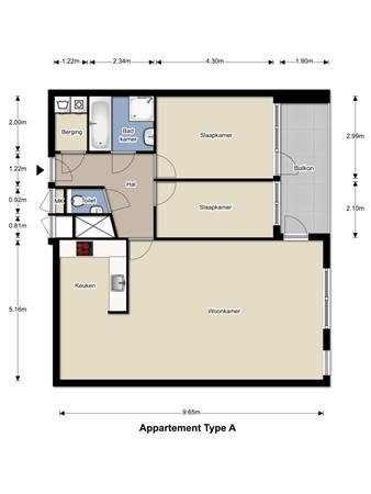 Floorplan - Kleine Steeg 1-2, 6131 KJ Sittard