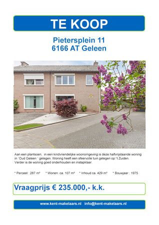 Brochure preview - pietersplein 11, geleen