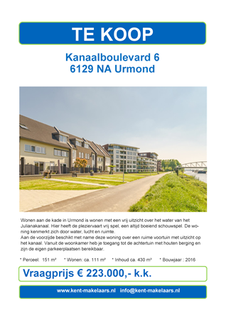 Brochure preview - kanaalboulevard 6, urmond