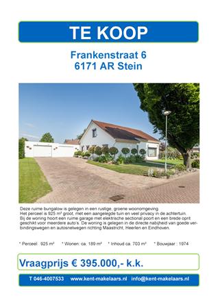 Brochure preview - frankenstraat 6 ,stein