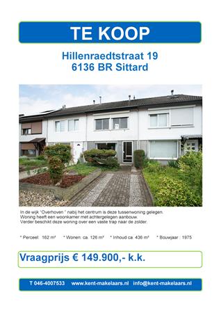 Brochure preview - hillenraedtstraat 19 , sittard
