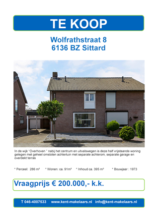 Brochure preview - wolfrathstraat 8, sittard