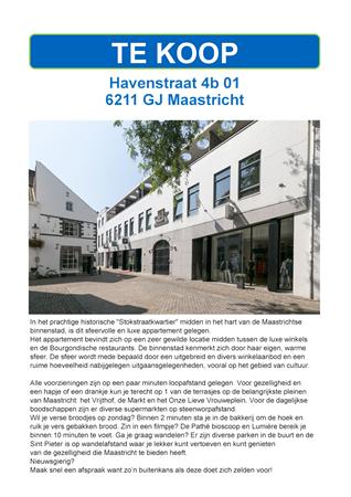 Brochure preview - havenstraat 4b-01, maastricht
