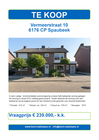 Brochure preview - vermeerstraat 10, spaubeek