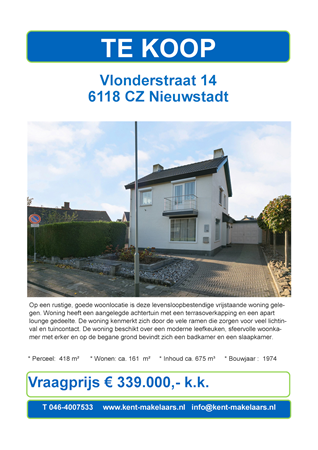 Brochure preview - vlonderstraat 14, nieuwstadt