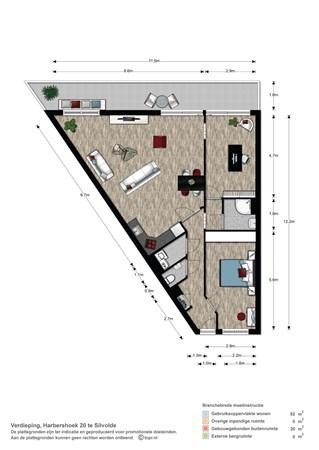Floorplan - Harbershoek 20, 7064 AC Silvolde