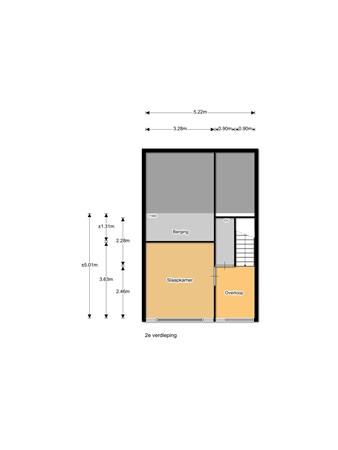 Floorplan - Verdistraat 213, 3752 WN Bunschoten-Spakenburg