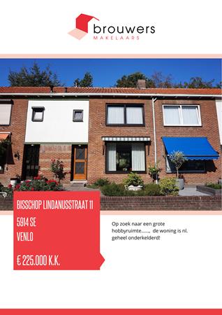 Brochure preview - Bisschop Lindanusstraat 11, 5914 SE VENLO (1)