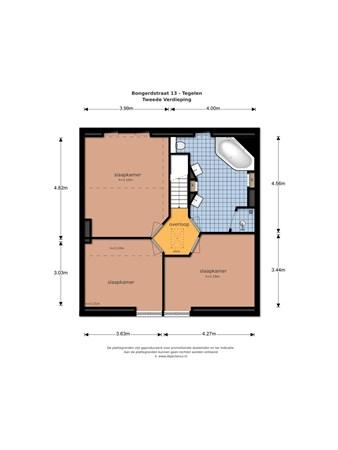 Floorplan - Bongerdstraat 13, 5931 NA Tegelen