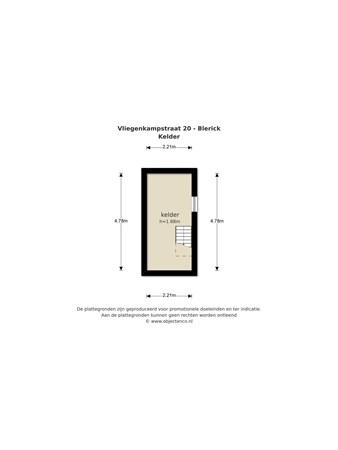 Floorplan - Vliegenkampstraat 20, 5921 CZ Venlo