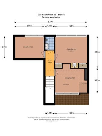 Floorplan - Van Haeffstraat 10, 5921 HS Venlo