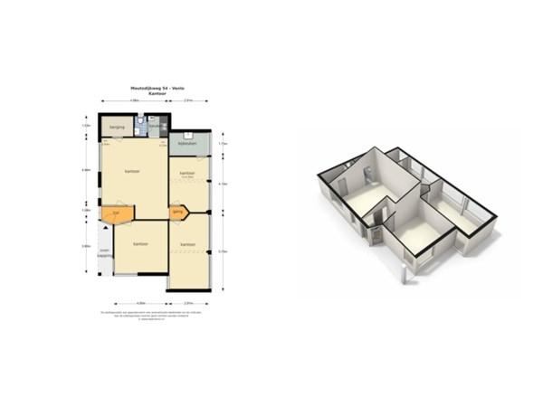 Floorplan - Moutzdijkweg 54, 5926 RN Venlo