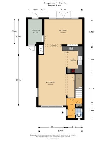 Floorplan - Steegstraat 44, 5921 GL Venlo