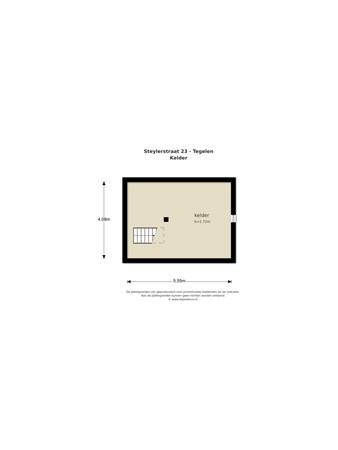 Floorplan - Steylerstraat 23, 5931 BJ Tegelen
